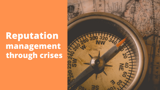 Reputation management through crises